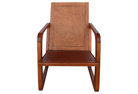 Kem Weber Art Deco Armchair for Mueller