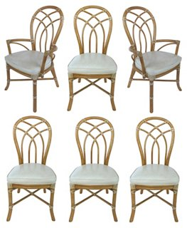 McGuire Rattan Dining Chairs, S/6   Dining Chair Sets   Dining Chairs    Dining Room   Furniture | One Kings Lane