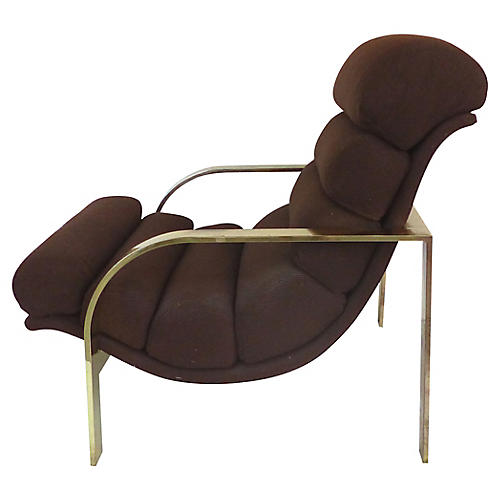 Midcentury Baughman-Style Lounge Chair