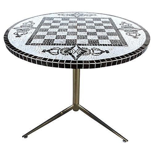 Checkerboard Tile-Top Table