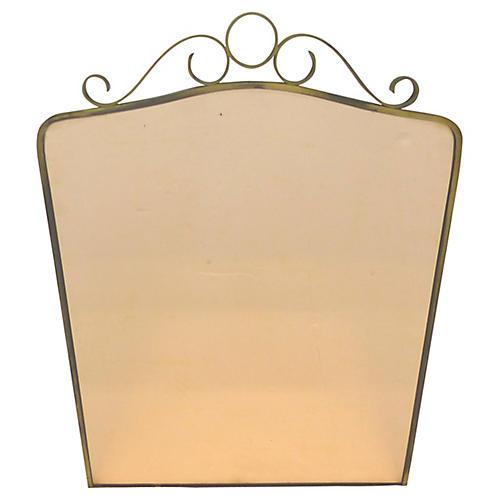 Brass Peach Wall Mirror