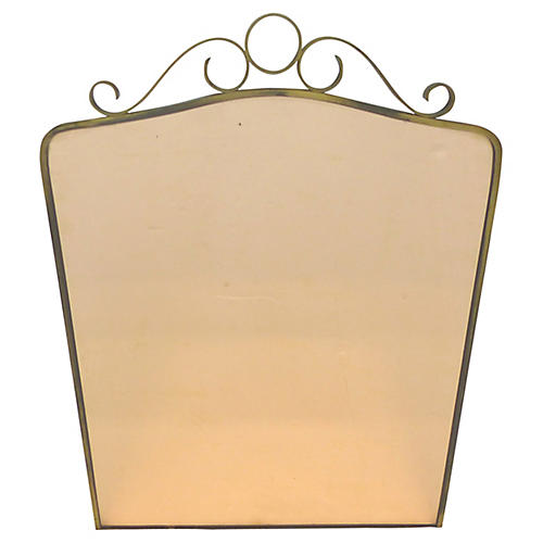 Brass Peach Wall Mirror