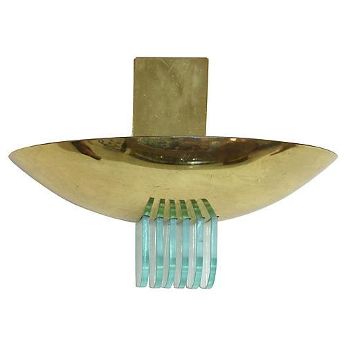1960s Brass Sconce by Stilnovo