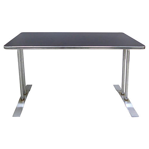 Art Deco Chrome Desk