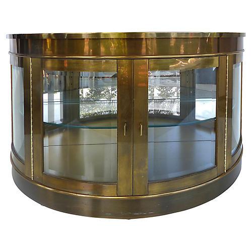 Mastercraft Brass Demilune Cabinet