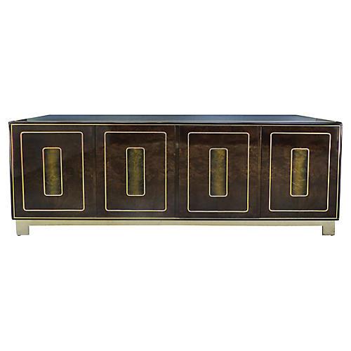 Romweber Burl-Wood & Brass Sideboard