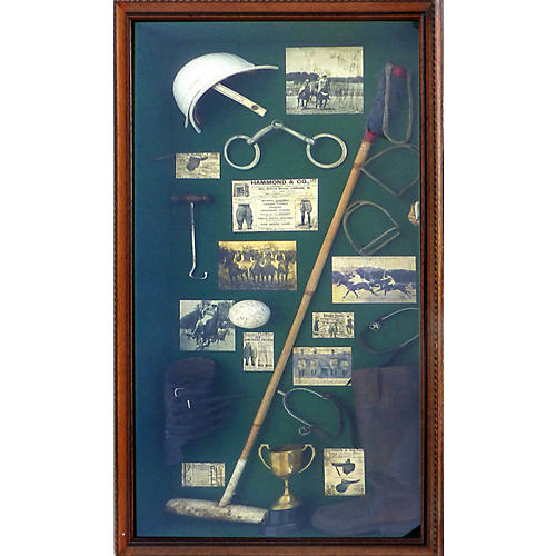 Polo Memorabilia Shadow Box