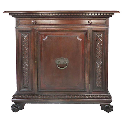 1930s Carved Cabinet