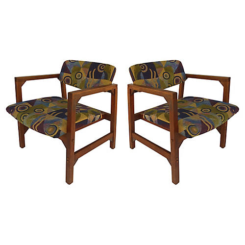 Danish Accent Chairs, S/2