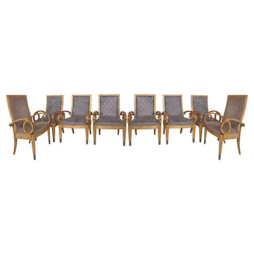 Century Furniture Dining Chairs, S/8