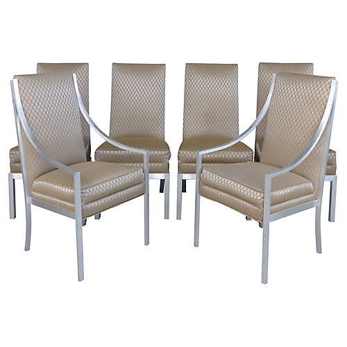 Aluminum Dining Chairs, S/6