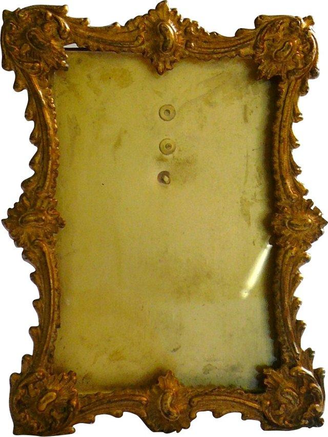 Gilt Brass Easel-Back Photo Frame
