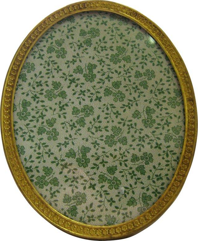 Oval Gilt Brass Photo Frame