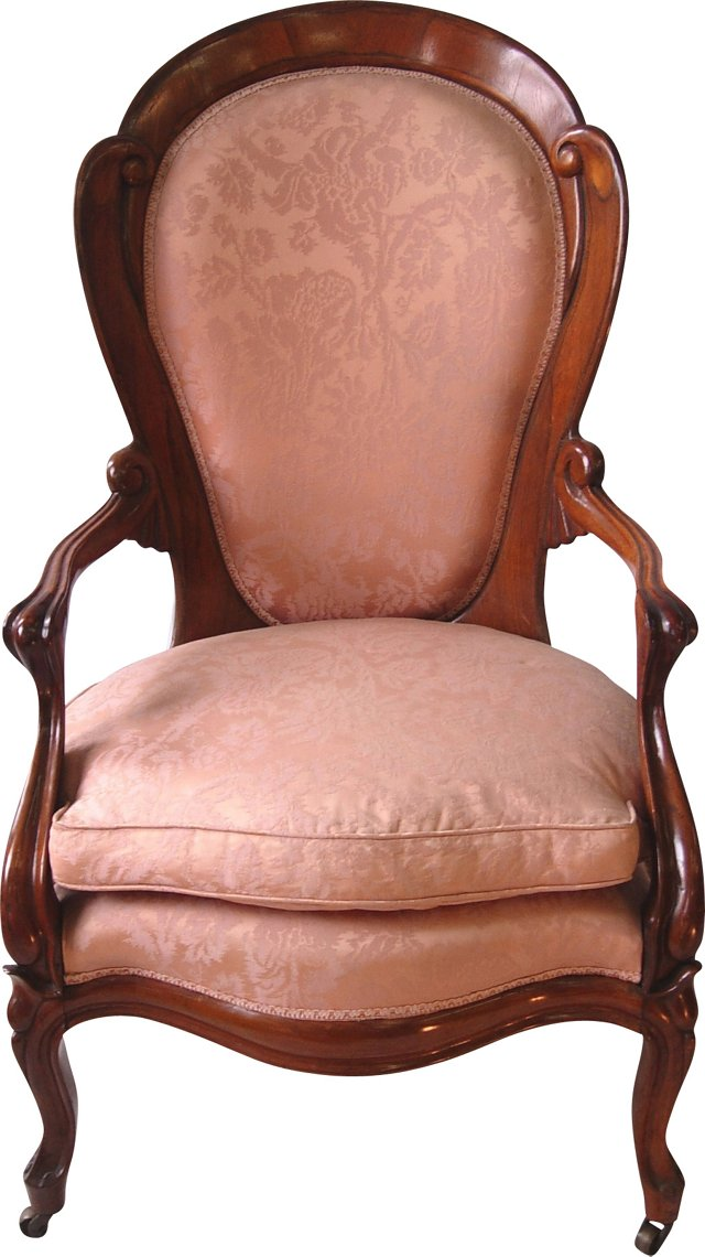 19th C Belter Parlor Chair