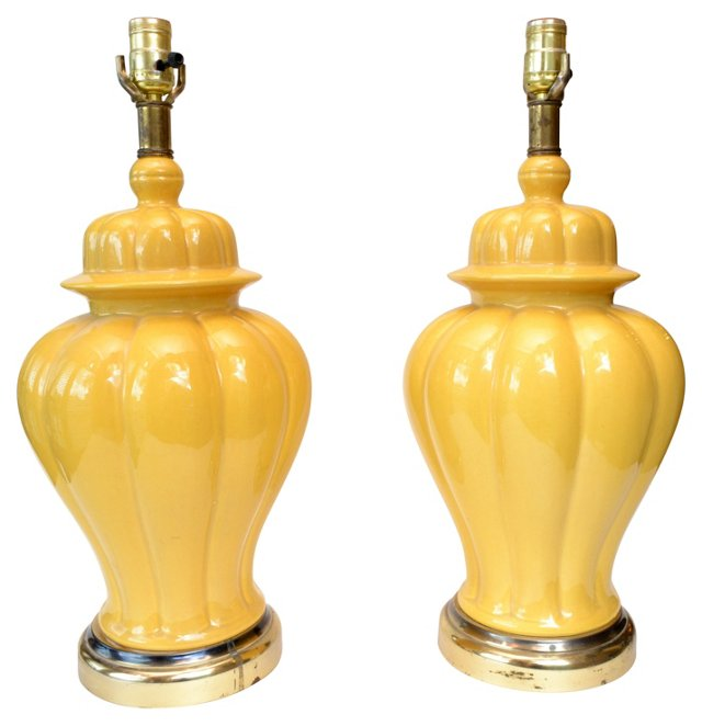 Midcentury Lamps, Pair
