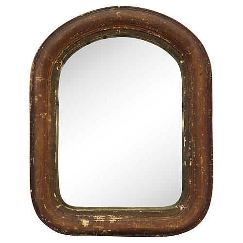 19th-C. Italian Painted Wood Mirror