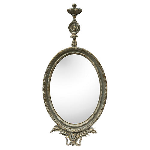 1930s Parcel-Gilt Louis XVI Mirror