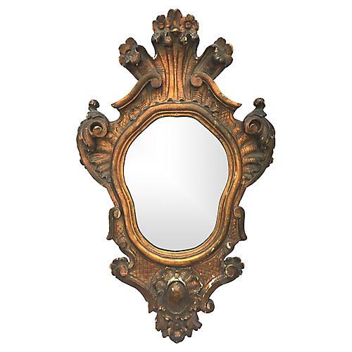 Italian Carved Wood Mirror