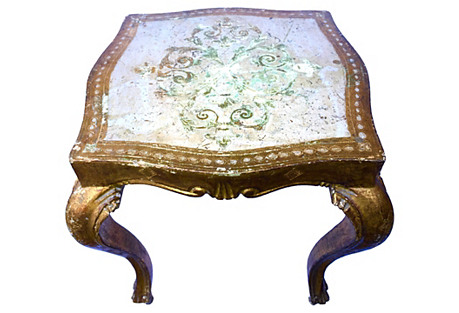 1940s Florentine Parcel Gilt Side Table