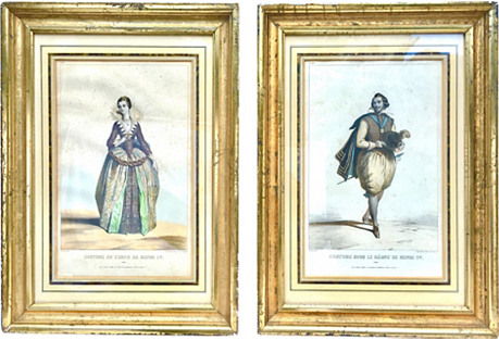 19th-C. French Lithographs, S/2