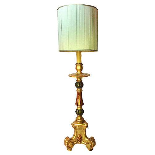 1940s Italian Candlestick Table Lamp