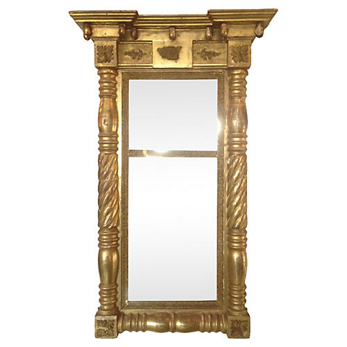 19th-C. Regency Giltwood Mirror