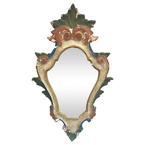 1930s Italian Polychrome Wall Mirror