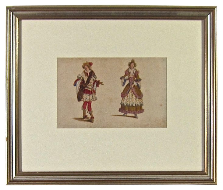 Hand-Tinted Opera Costume
