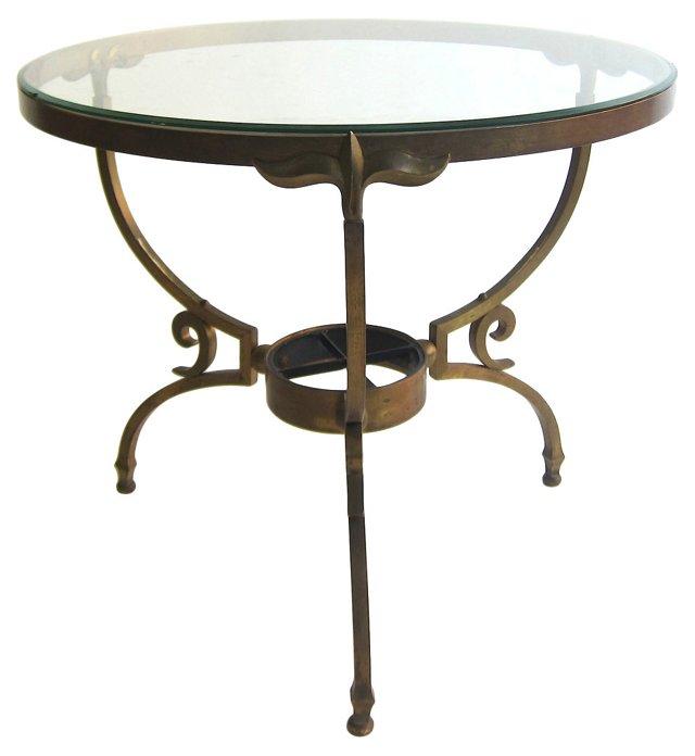 Arturo  Pani Brass Side Table