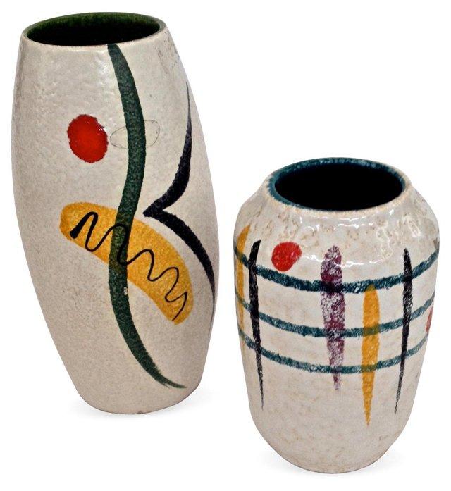 1960s Jopeko Ceramic Vases, Pair