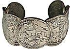 Mexican Silver 50 Peso Cuff