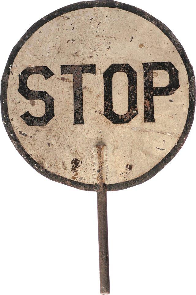 Railroad Stop Sign