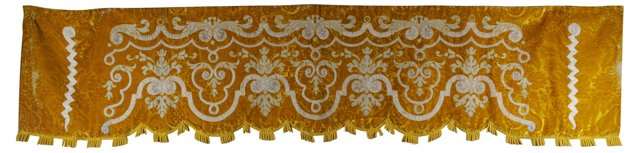 French Mohair Valance, C. 1875