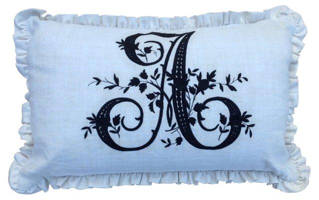 Bolster Pillow Sham w/ A Monogram