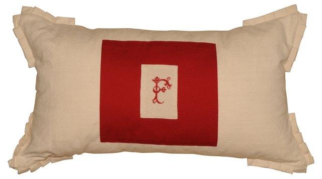 Pillow w/   F Monogram