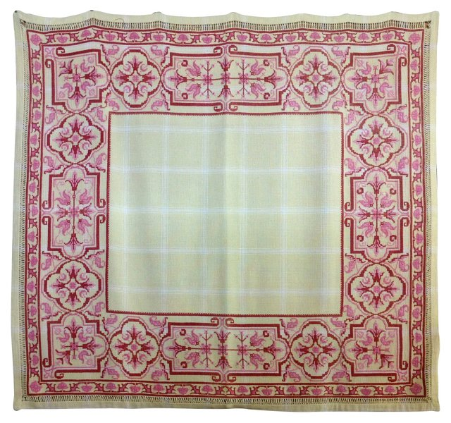 Arts & Crafts Embroidered Coverlet
