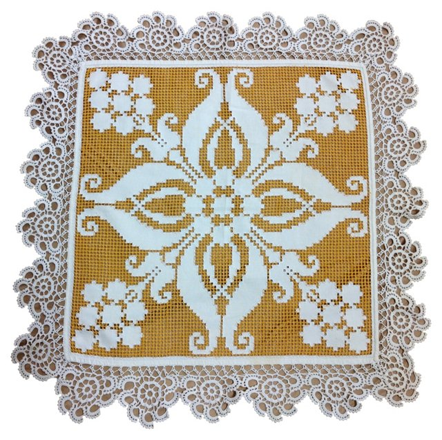 Gold & White Embroidery