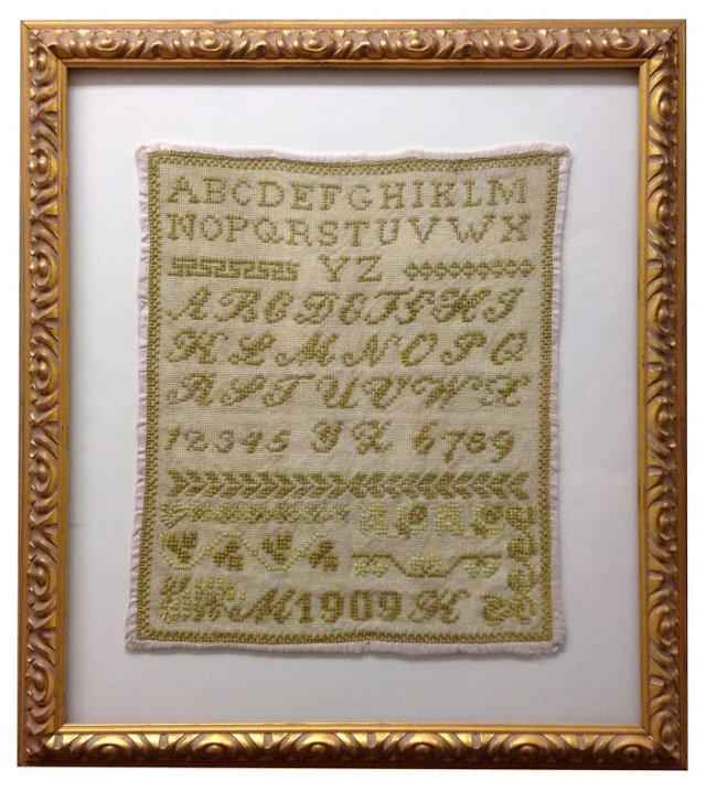 Hungarian Alphabet Sampler, 1909
