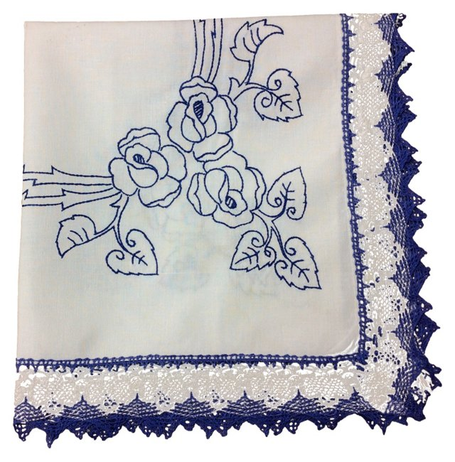 Blue & White Tablecloth 1/2