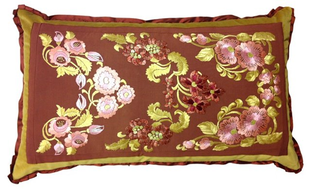 Silk Embroidered Pillow