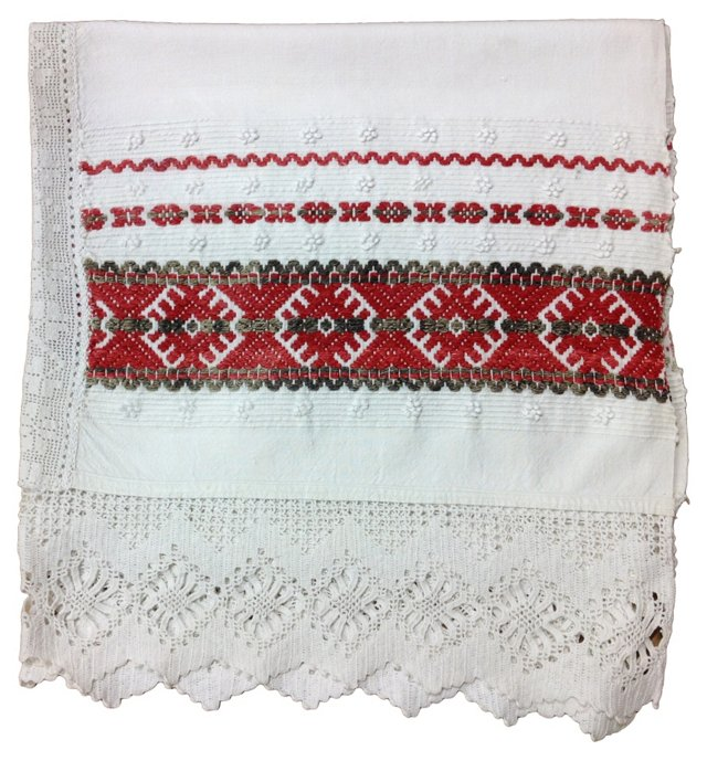 White & Red Blanket Cover