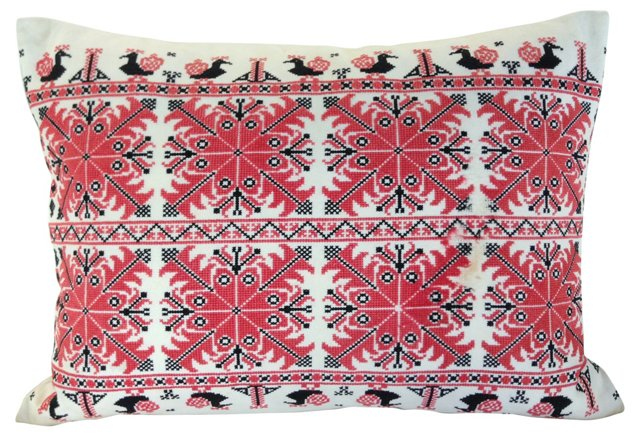 Turul Faded Red & Black Pillow Sham