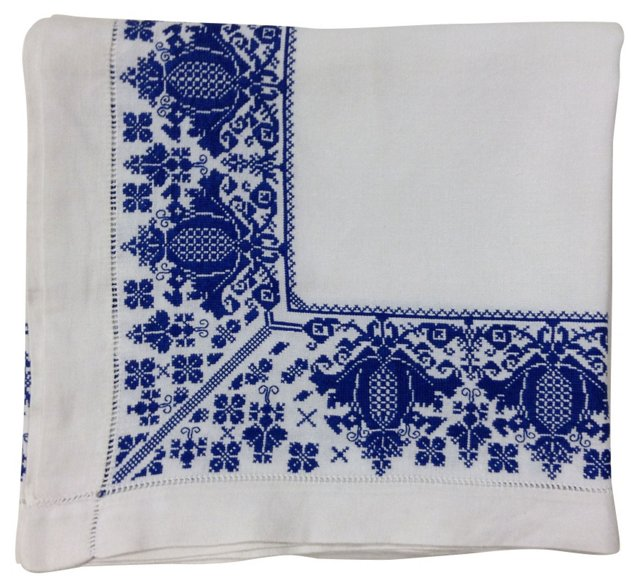 Pomegranate Embroidered Blanket Cover