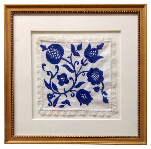 Blue & White Embroidery Sampler