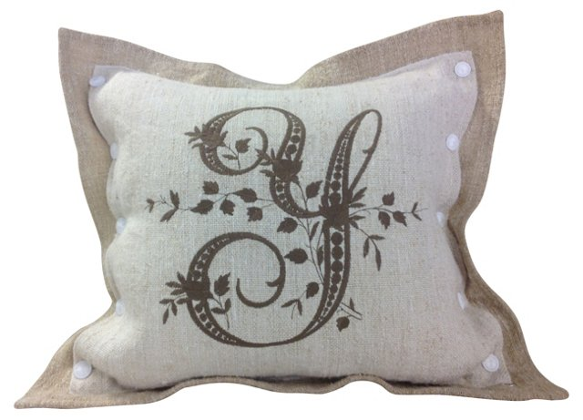 Y Monogram   Pillow Sham