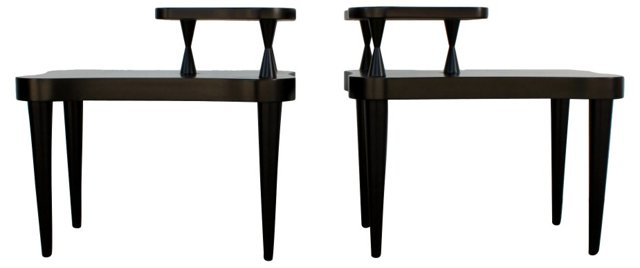1950s 2-Tier Side Tables, Pair