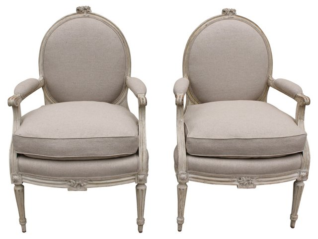 1920s French  Fauteuils, Pair