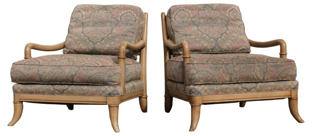 1970s Club Chairs  by Henredon, Pair