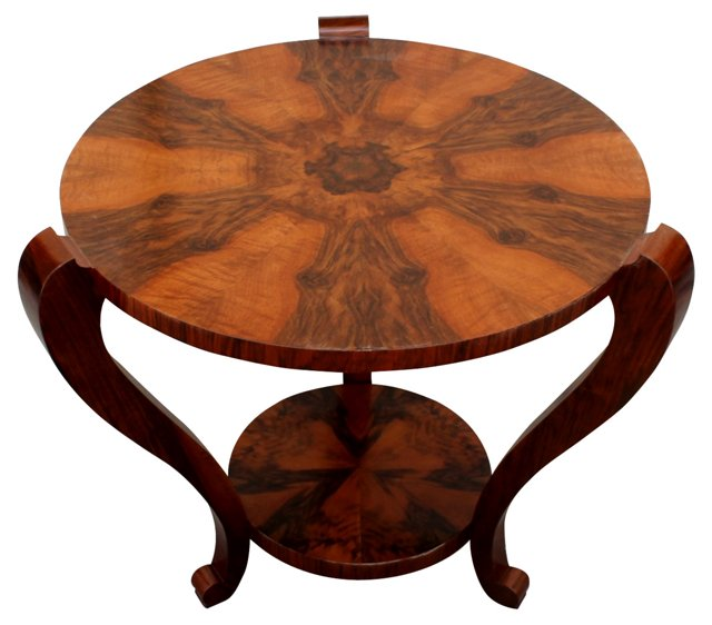 French Art Deco Rosewood Accent Table