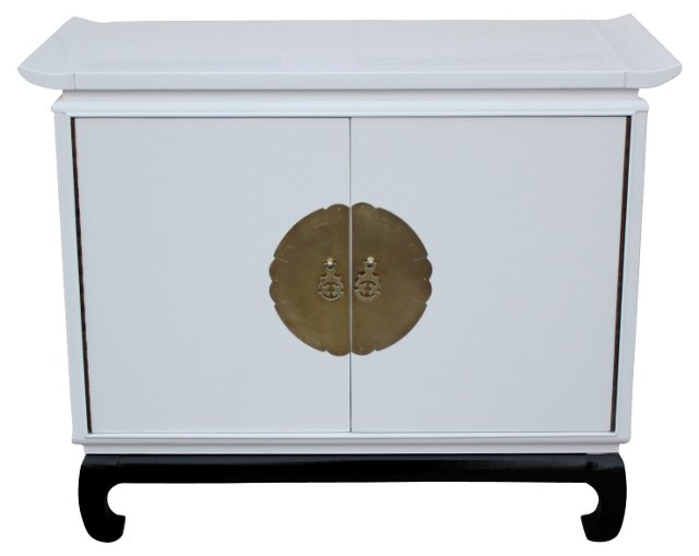 1950s Asian-Style Lacquered Credenza